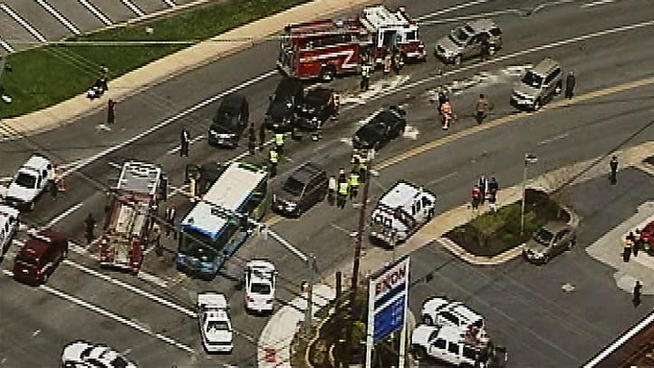 Ride-On Bus Crash On Rockville Pike