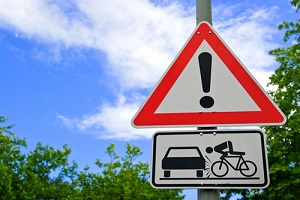 bicycle accident sign