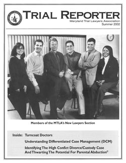 MTLA's Fall 2002 issue of Trial Reporter