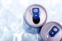 energy drinks on ice