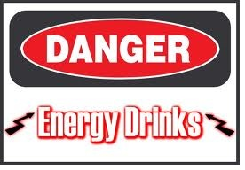 danger energy drinks sign