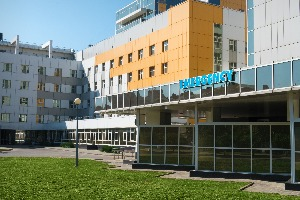 front of hospital building