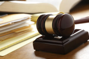 personal injury files and gavel