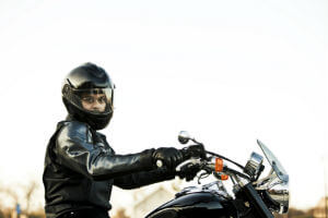 man riding motorcycle
