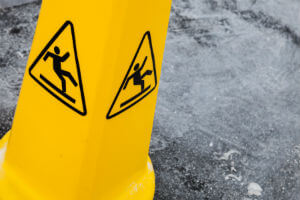 slip and fall warning