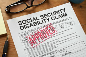 approved form for disability benefits