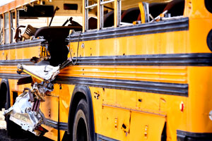 school bus and MTA bus crash