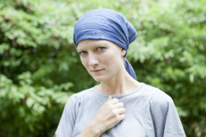 cancer patient without hair